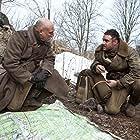 Robert Gwilym and Joshua Sasse in Frankenstein's Army (2013)