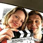 Anders Danielsen Lie and Mia Wasikowska in Bergman Island (2021)