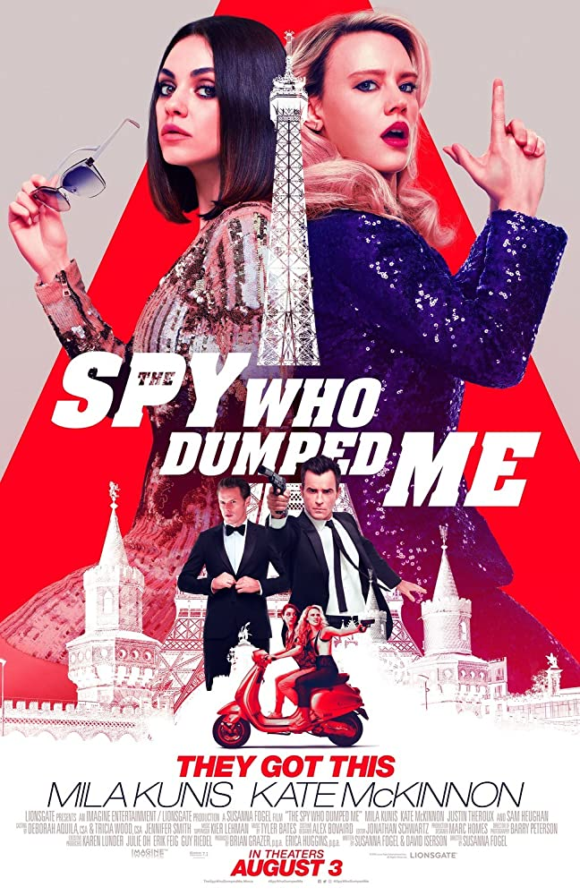 Mila Kunis, Kate McKinnon, Justin Theroux, and Sam Heughan in The Spy Who Dumped Me (2018)
