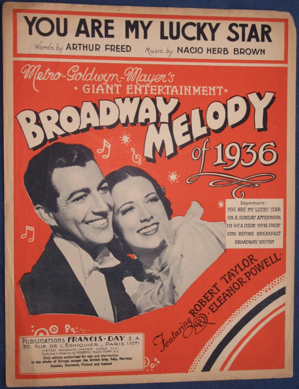 Robert Taylor and Eleanor Powell in Broadway Melody of 1936 (1935)