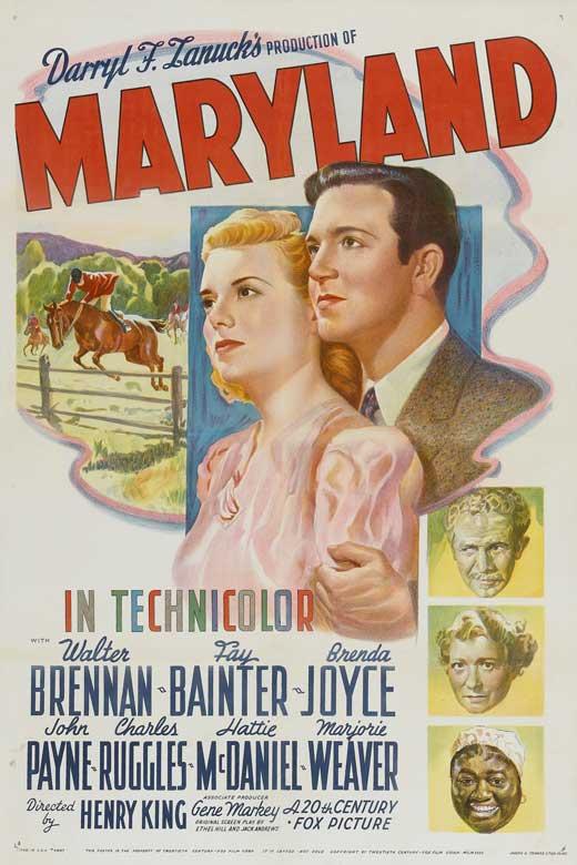 Walter Brennan, Fay Bainter, Brenda Joyce, Hattie McDaniel, and John Payne in Maryland (1940)