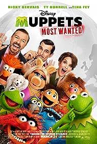 Bill Barretta, Ty Burrell, Tina Fey, Ricky Gervais, Dave Goelz, Peter Linz, David Rudman, Matt Vogel, Steve Whitmire, and Eric Jacobson in Muppets Most Wanted (2014)