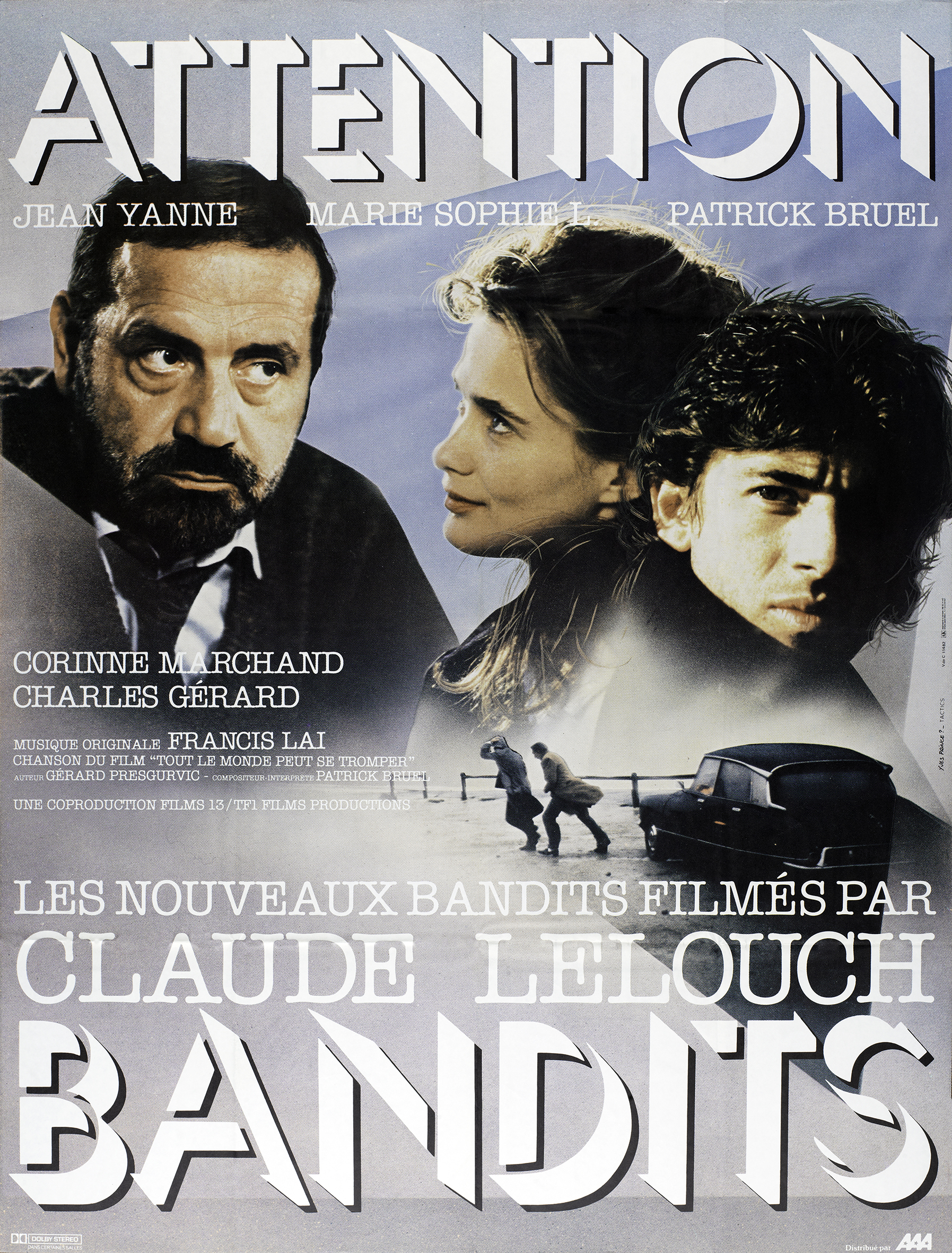 Patrick Bruel, Marie-Sophie L., and Jean Yanne in Attention bandits! (1986)