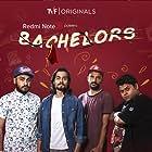 Shivankit Singh Parihar, Jasmeet Singh Bhatia, Badri Chavan, and Bhuvan Bam in TVF Bachelors (2016)