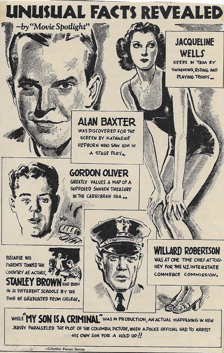 Alan Baxter, Julie Bishop, Stanley Brown, Gordon Oliver, and Willard Robertson in My Son Is a Criminal (1939)