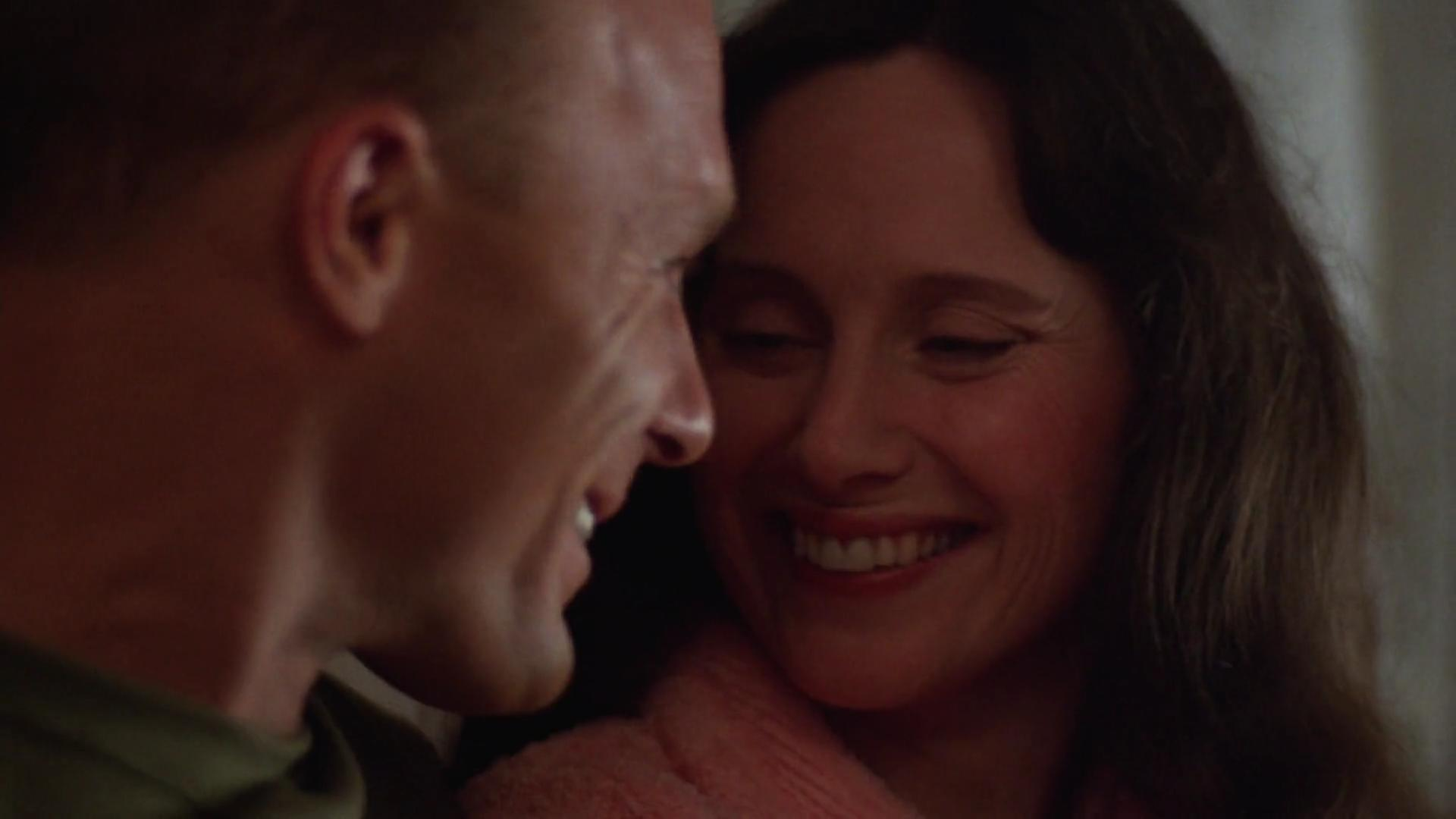 Ed Harris and Mary Jo Deschanel in The Right Stuff (1983)
