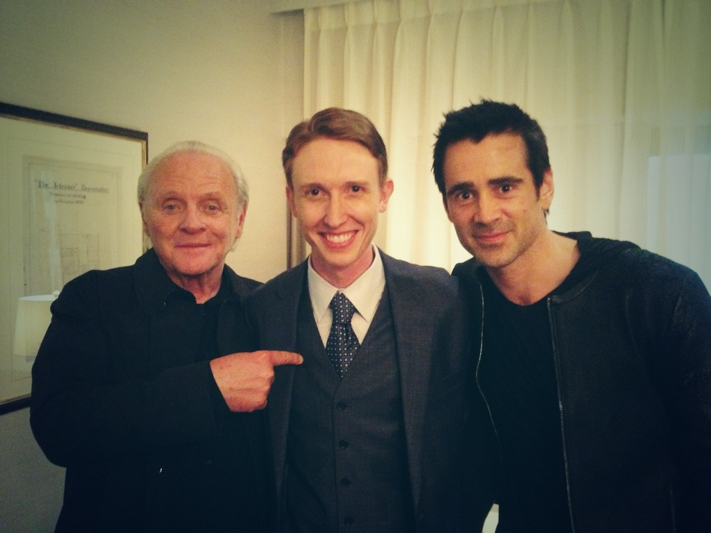 """With Colin Farrell and Sir Anthony Hopkins on """"Solace"""""""