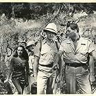 George Reeves, Lita Baron, Virginia Grey, and Johnny Weissmuller in Jungle Jim (1948)