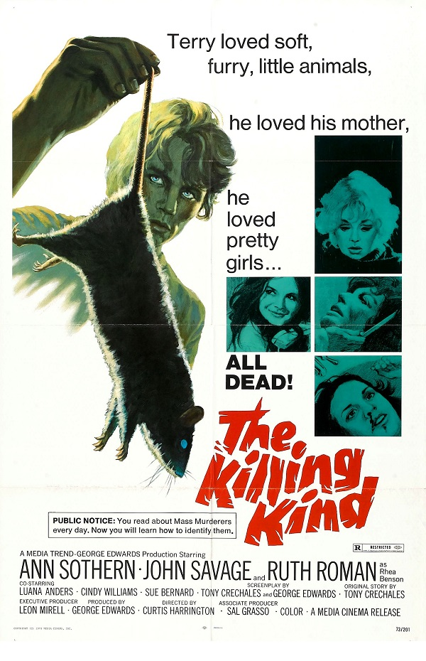 John Savage, Ruth Roman, Ann Sothern, and Cindy Williams in The Killing Kind (1973)