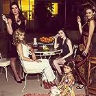 Alicia Silverstone, Mena Suvari, Jennifer Bartels, Makenna James, and Lia McHugh in American Woman (2018)