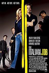 Charlize Theron, Mark Wahlberg, Seth Green, Edward Norton, Jason Statham, Yasiin Bey, and Franky G in The Italian Job (2003)