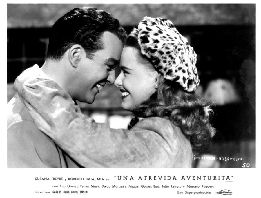 Roberto Escalada and Susana Freyre in Una atrevida aventurita (1948)