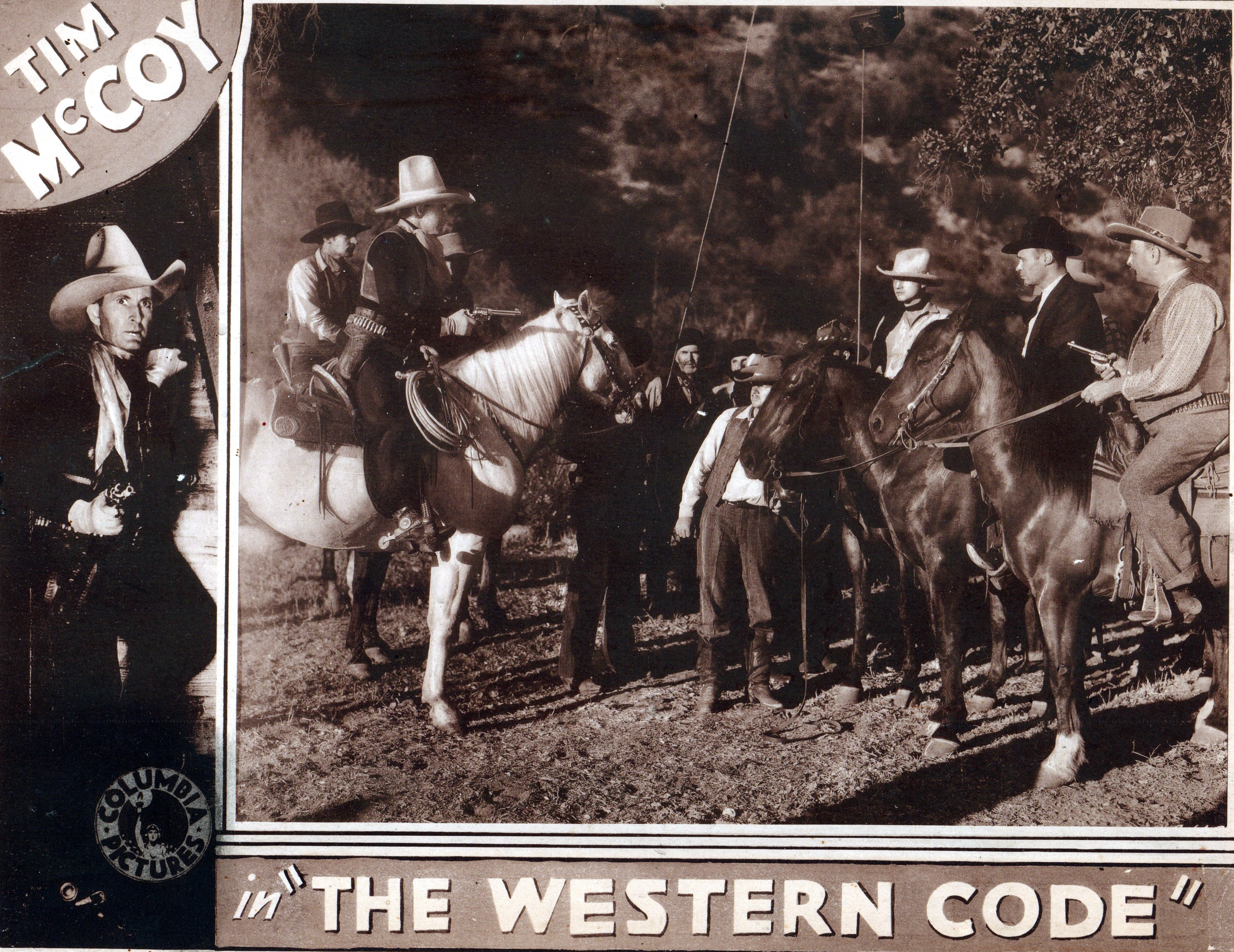 Tim McCoy, Gordon De Main, and Dwight Frye in The Western Code (1932)