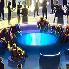 Djimon Hounsou, Sean Gunn, Michael Rooker, Chadwick Boseman, Chris Sullivan, and Tanya Wheelock in What If...? (2021)