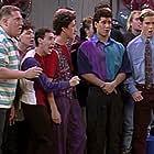 Mark-Paul Gosselaar, Dustin Diamond, Troy Fromin, and Mario Lopez in Saved by the Bell (1989)