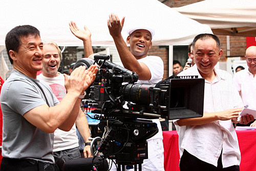 Will Smith and Jackie Chan in The Karate Kid (2010)