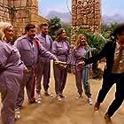 Carol Vorderman, Richard Ayoade, Rick Edwards, Arg, Gemma Collins, and Ellie Taylor in The Crystal Maze (1990)