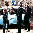 Alain Delon, Patrick Catalifo, and Nar Sene in Ne réveillez pas un flic qui dort (1988)