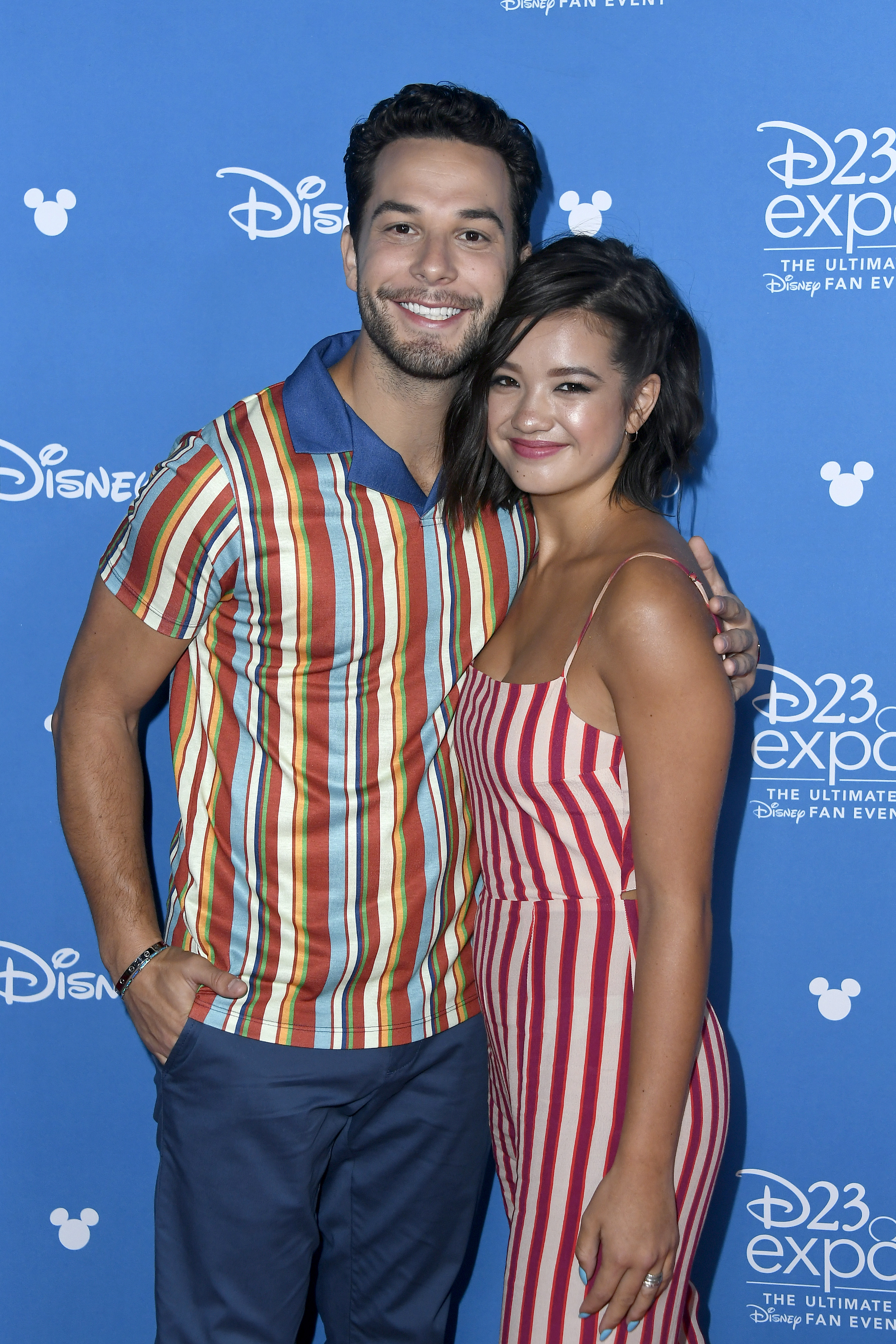 Skylar Astin and Peyton Elizabeth Lee at an event for Andi Mack (2017)