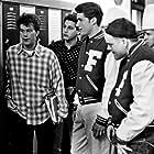 Philip Seymour Hoffman, Matthew Fox, Traci Lind, Andrew Lowery, and Danny Zorn in My Boyfriend's Back (1993)
