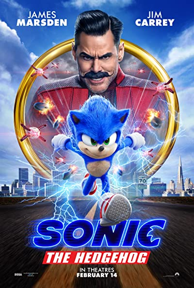 Poster of Sonic the Hedgehog 2020 Full English Free Download Watch Online In HD Movie Download 720p HDCAM