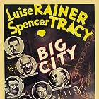 Spencer Tracy, Jack Dempsey, James J. Jeffries, Jimmy McLarnin, Bull Montana, Luise Rainer, Maxie Rosenbloom, Gus Sonnenberg, and Jim Thorpe in Big City (1937)