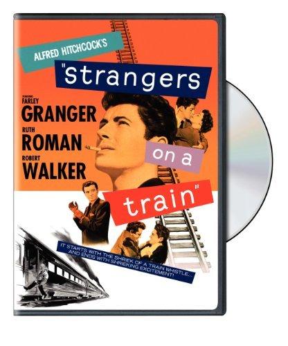 Farley Granger, Ruth Roman, and Robert Walker in Strangers on a Train (1951)