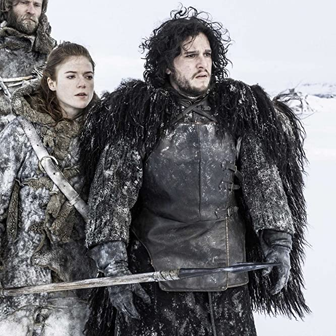 Kit Harington and Rose Leslie in Game of Thrones (2011)