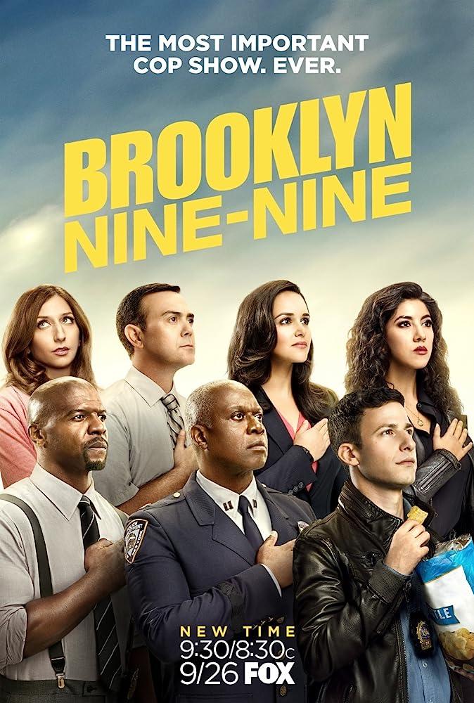 Andre Braugher, Terry Crews, Melissa Fumero, Joe Lo Truglio, Andy Samberg, Chelsea Peretti, and Stephanie Beatriz in Brooklyn Nine-Nine (2013)