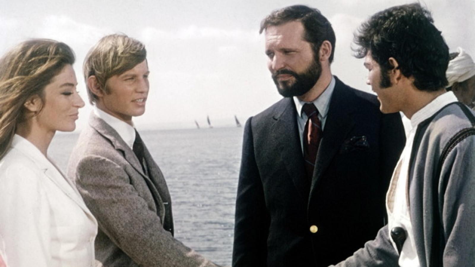 Anouk Aimée, Robert Forster, Michael York, and John Vernon in Justine (1969)