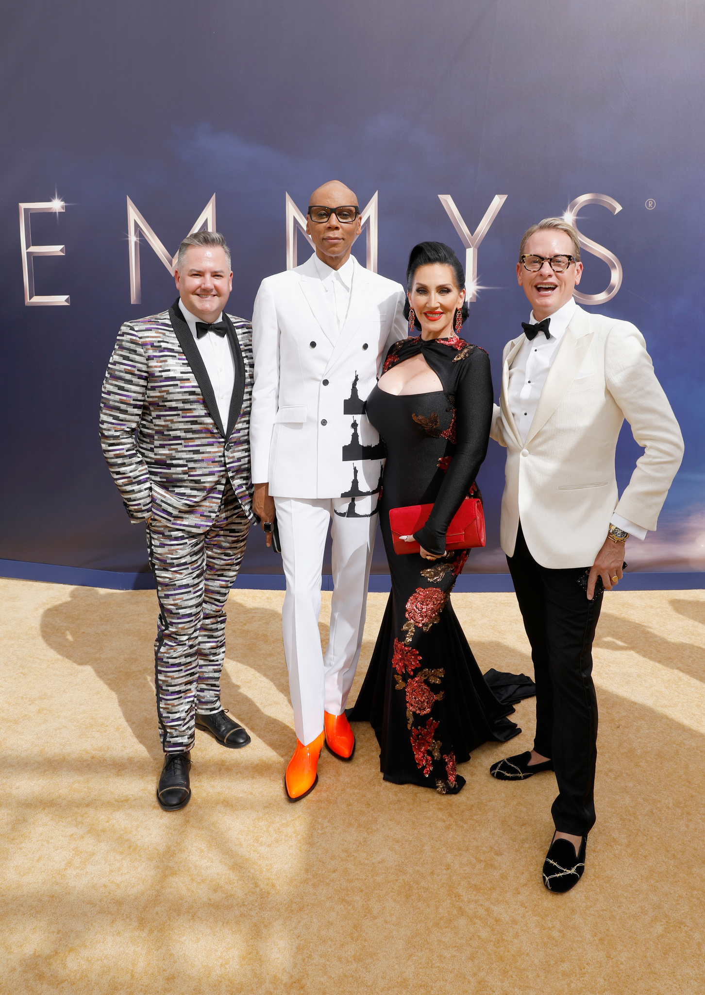 RuPaul, Michelle Visage, Carson Kressley, and Ross Mathews at an event for The 70th Primetime Emmy Awards (2018)