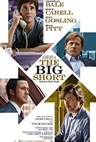 Brad Pitt, Christian Bale, Steve Carell, and Ryan Gosling in The Big Short (2015)