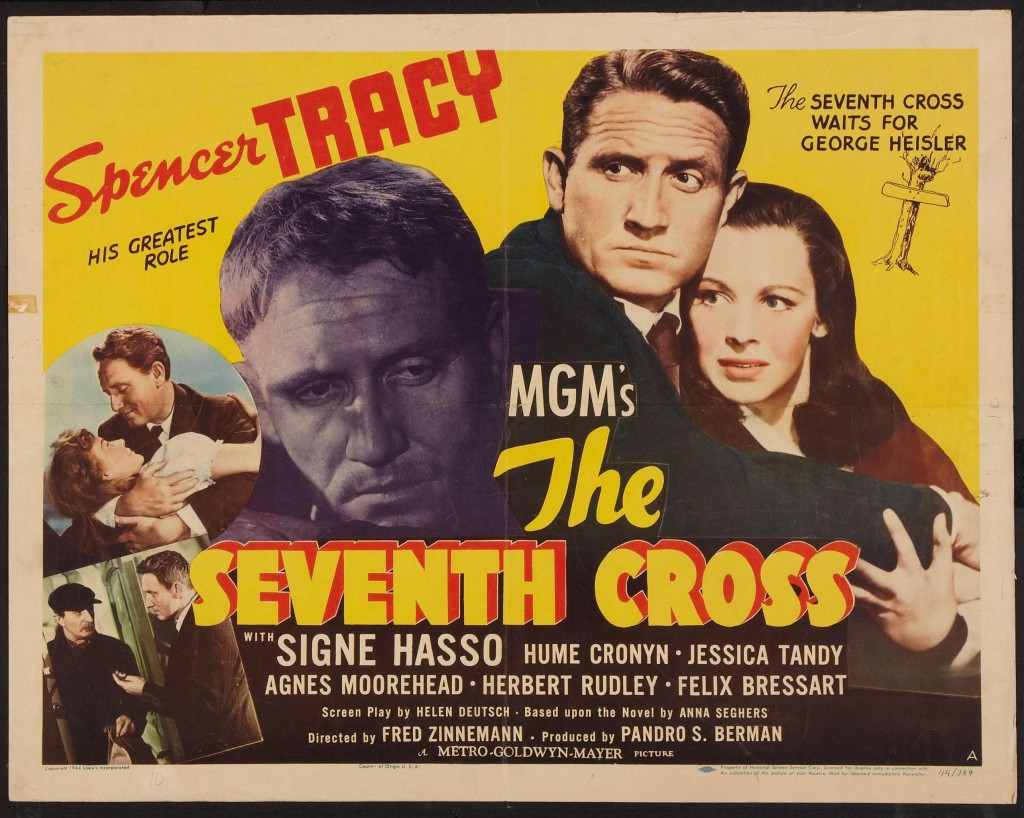 Spencer Tracy, Felix Bressart, and Signe Hasso in The Seventh Cross (1944)