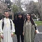 Argyris Kontonikolaou, Vicky Driva, and Leonardo Thimo in Ithopoios Simainei (2021)