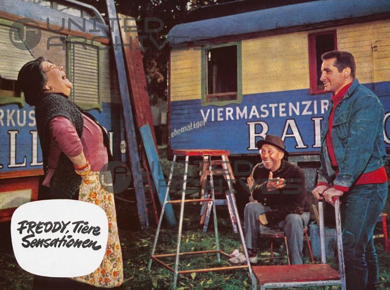 Rudolf Platte, Freddy Quinn, and Erna Sellmer in Freddy, Tiere, Sensationen (1964)