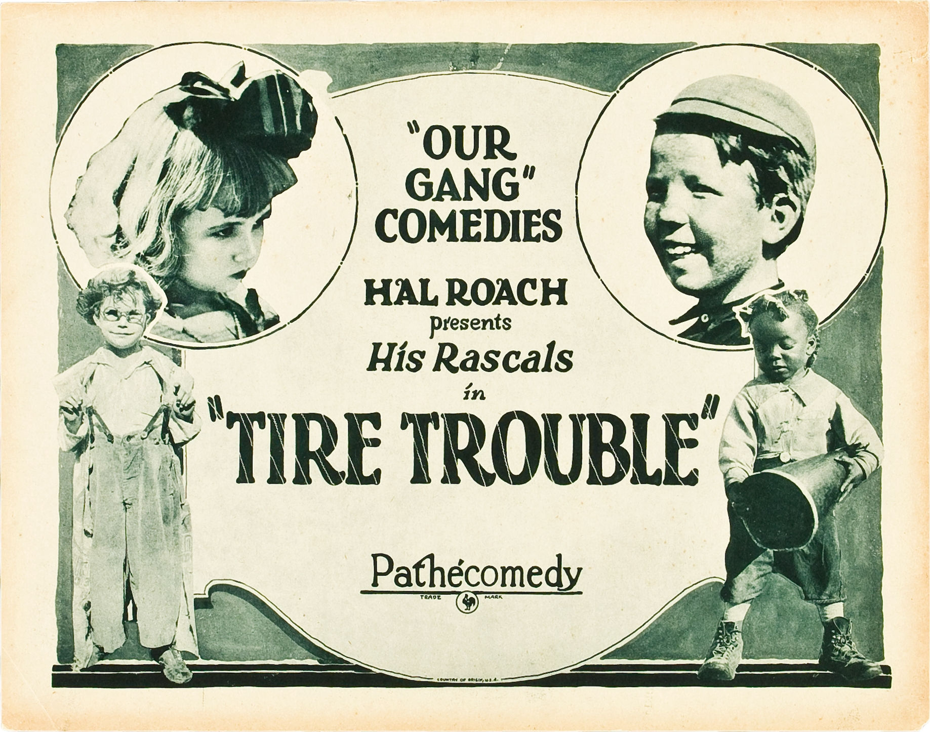 Jackie Condon, Mickey Daniels, Allen 'Farina' Hoskins, and Mary Kornman in Tire Trouble (1924)