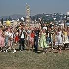 Stockard Channing, Jeff Conaway, Lorenzo Lamas, Susan Buckner, Edd Byrnes, Didi Conn, Eddie Deezen, and Michael Tucci in Grease (1978)