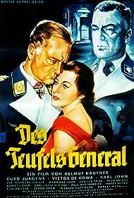 Viktor de Kowa, Karl John, Curd Jürgens, Marianne Koch, and Helmut Käutner in Des Teufels General (1955)