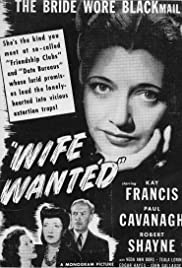 Wife Wanted (1946) starring Kay Francis on DVD on DVD