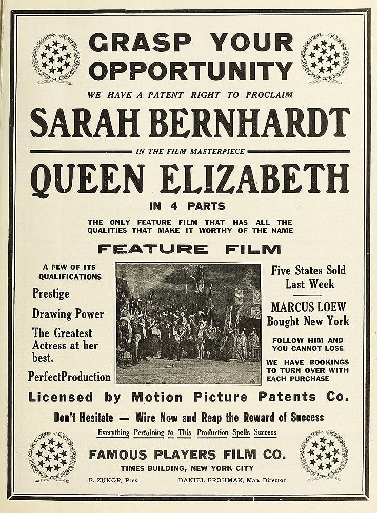 Sarah Bernhardt Queen Elizabeth