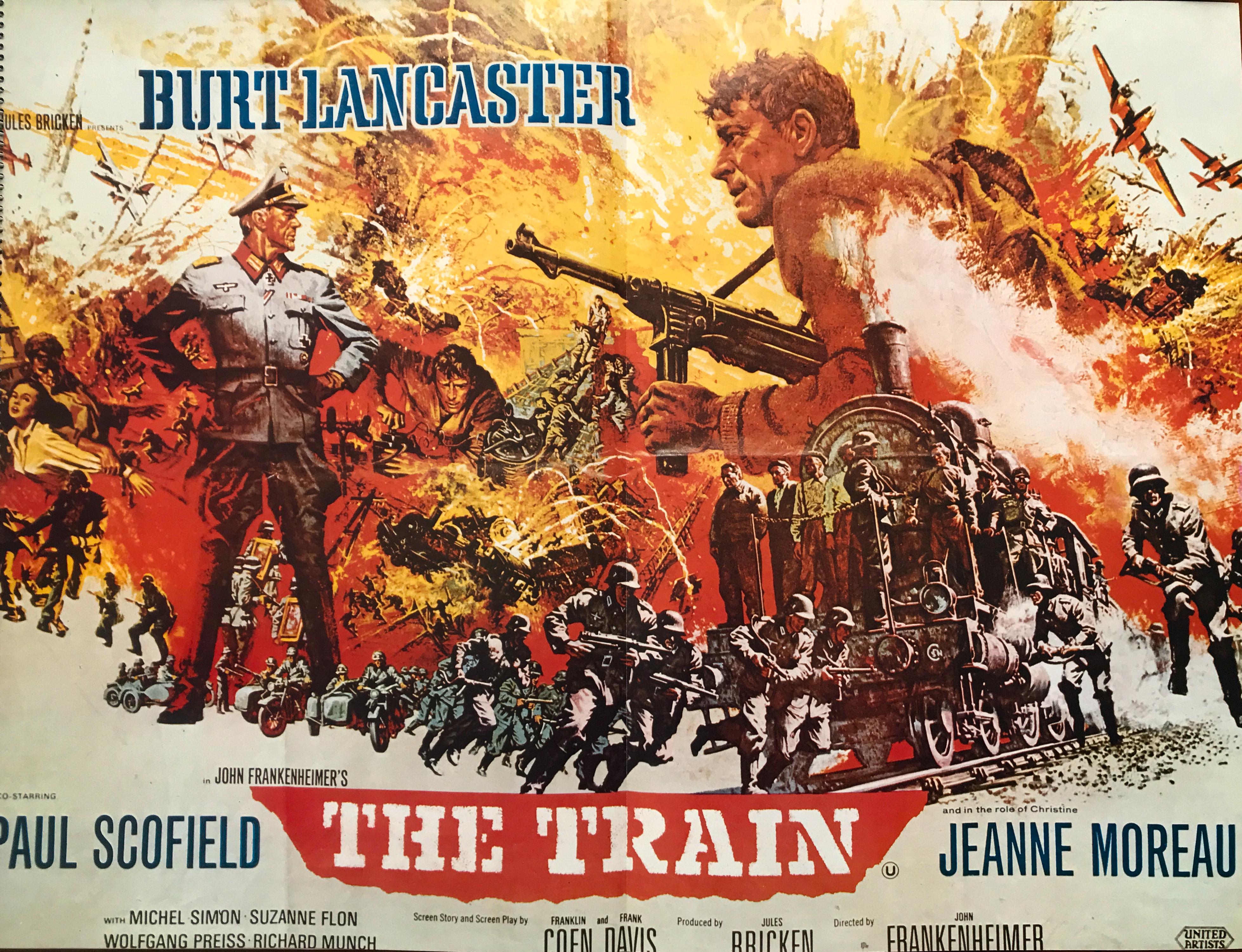 The Train Burt Lancaster Jeanne Moreau movie poster print 2