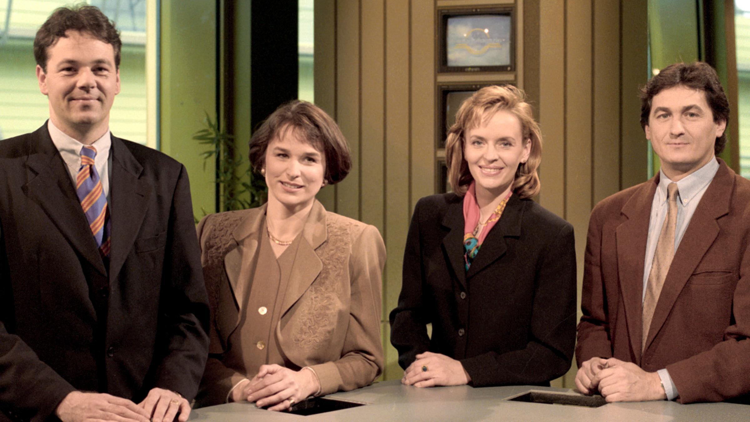 Axel Becher, Susanne Conrad, and Ulrike Grunewald in ZDF-Mittagsmagazin (1989)