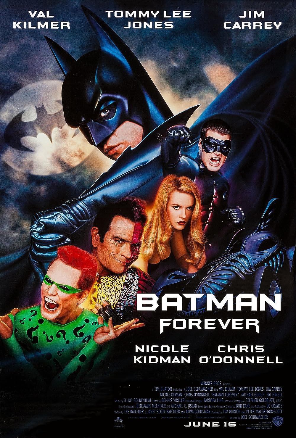 Batman Forever 1995 Hindi Dual Audio 720p BluRay ESub 900MB Download