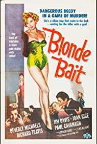 Jim Davis and Beverly Michaels in Blonde Bait (1956)