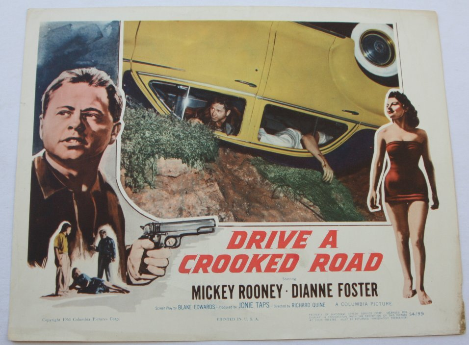 Mickey Rooney, Dianne Foster, and Jack Kelly in Drive a Crooked Road (1954)