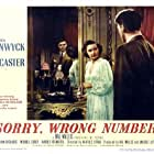 Burt Lancaster and Barbara Stanwyck in Sorry, Wrong Number (1948)