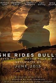 She Rides Bulls Poster