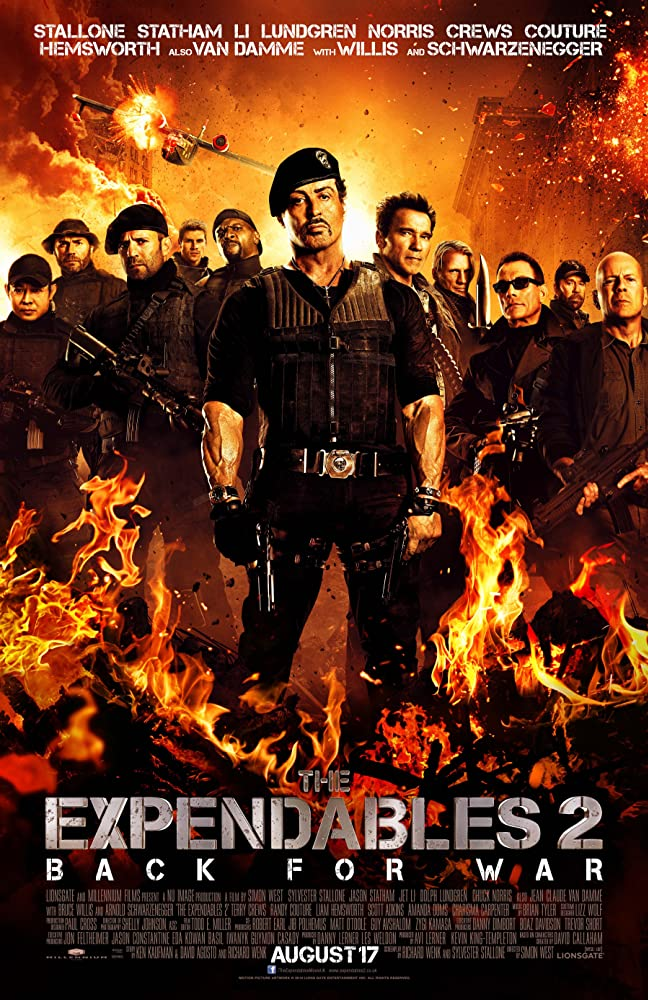The Expendables 2 2012 Hindi Dual Audio 720p BluRay ESubs 800MB Download