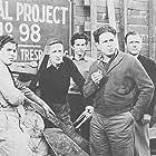Frank Albertson, Gabriel Dell, Huntz Hall, Billy Halop, and Bernard Punsly in Junior G-Men of the Air (1942)