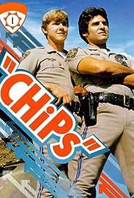 Erik Estrada and Larry Wilcox in CHiPs (1977)